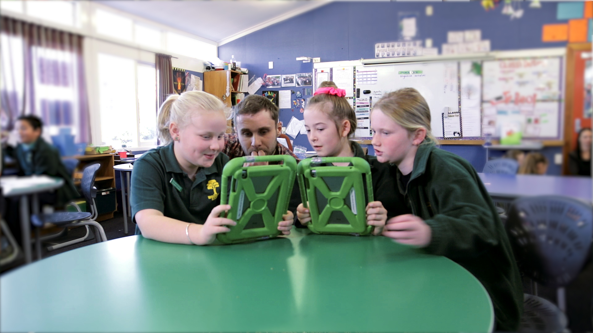 Students at Woodend School