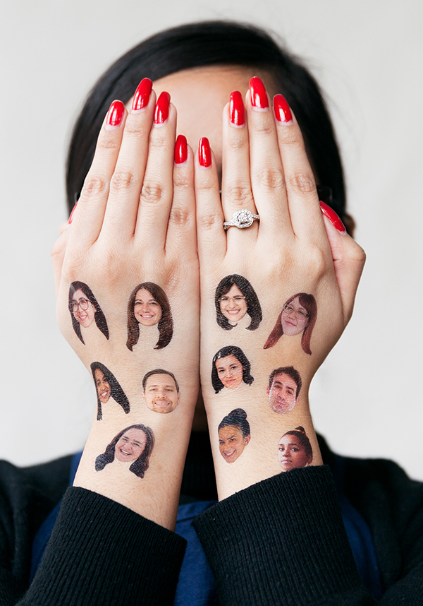 It's literally a photo of a Tattly of all of Team Tattly's faces