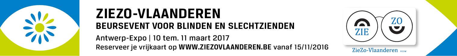 Banner van de Ziezo beurs