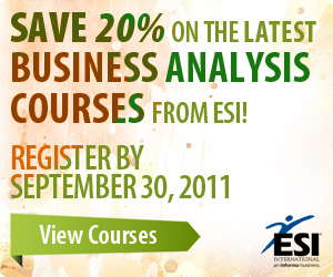Business Analysis Course Catalog