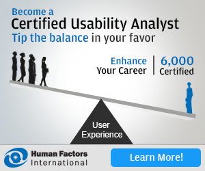 Become a Certified Usability Analyst