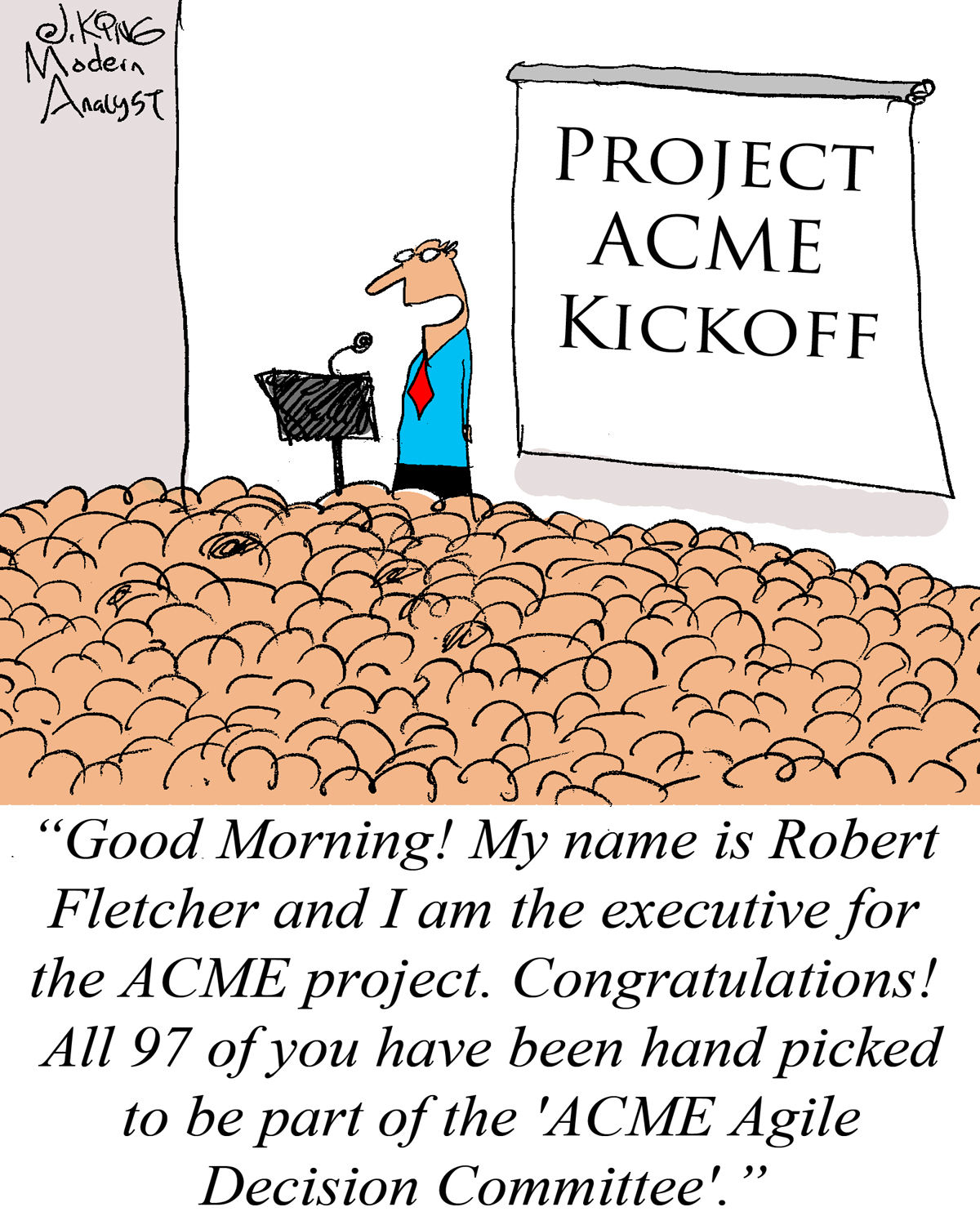 Humor: Agile Projects at Large Companies