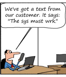 Humor: Modern Requirements Communication