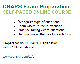 ESI - CBAP Exam Preparation