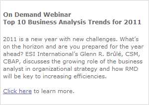 Webinar: Top 10 BA Trends for 2011