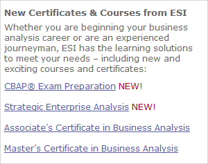 New Certificates & Courses from ESI