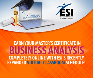Earn your Master's Certificate in Business Analysis