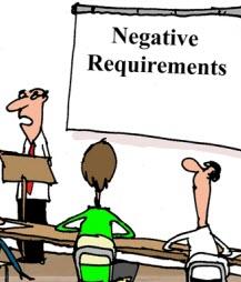 Humor: Negative Requirements