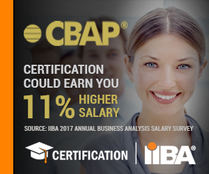 CBAP Certification Could Earn You 11% Higher Salary