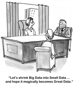 Humor: What should the analyst do with Big Data?