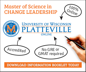100% online Master of Science in Change Leadership. Download information booklet today.