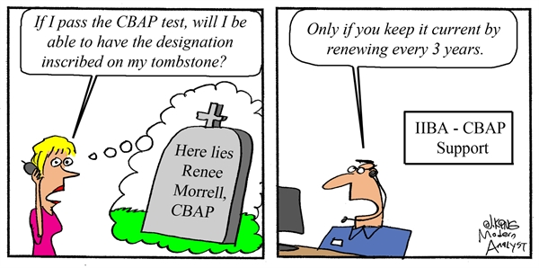 Humor: Where can I use the CBAP certification designation?