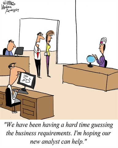 Humor: Guessing the Business Requirements