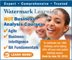 Watermark Learning: HOT Business Analysis Courses