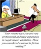 Humor: What type of requirements elicitation experience do you have?
