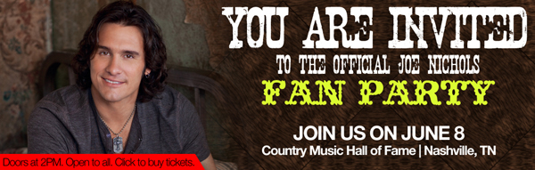 Fan Party - June 8 - Country Music Hall of Fame