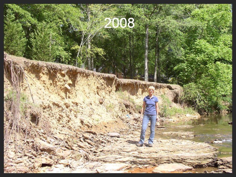 The bank of Little Shades Creek in Vestavia in 2008