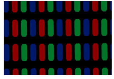 Display color filter manufactured using Pylux