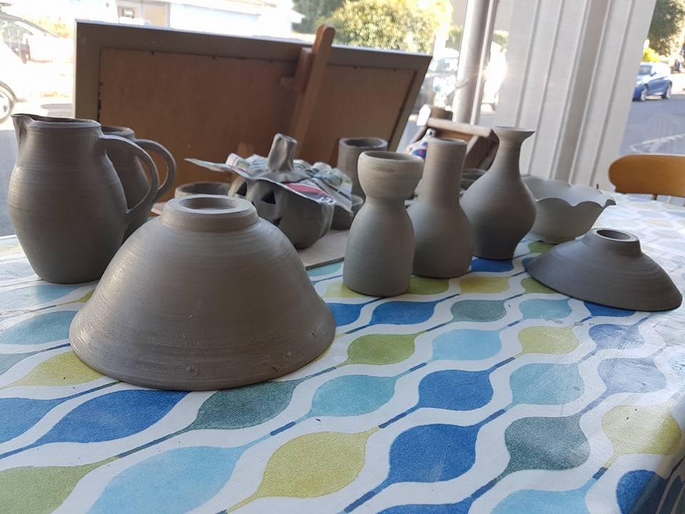 pot throwing at mint creative studio