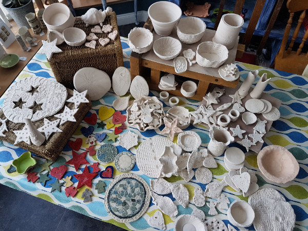 your wonderful makings awaiting decoration and collection