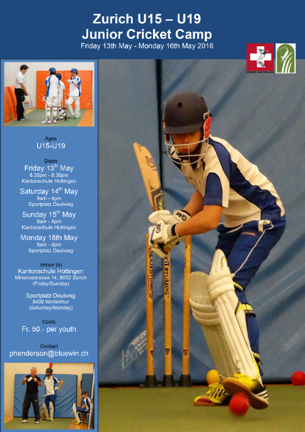 Zurich U15-U19 youth cricket camp