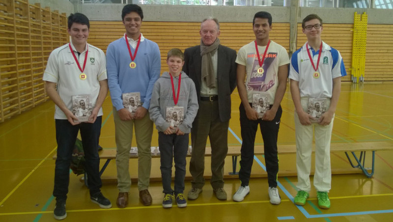Bob Barber Award Winners 2016 (l-r): Thomas Allen, Jai Sinh, Tom Harper, Jai Sinh, Ashwin Vinod, Luke Specogna