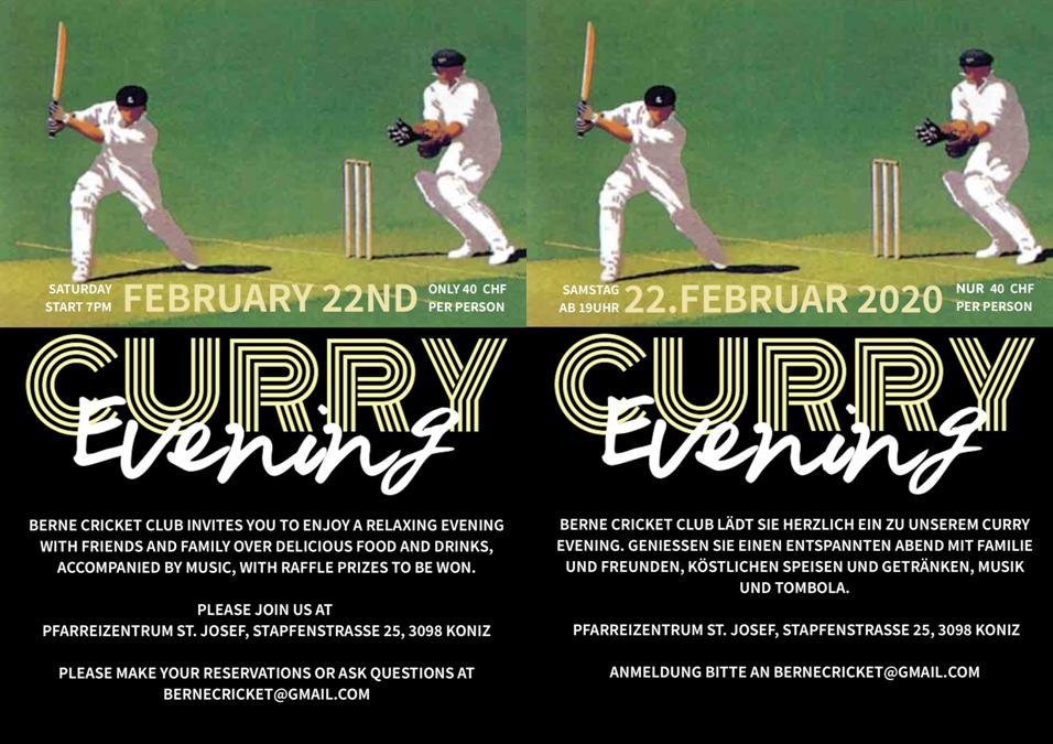 Berne CC Curry Evening