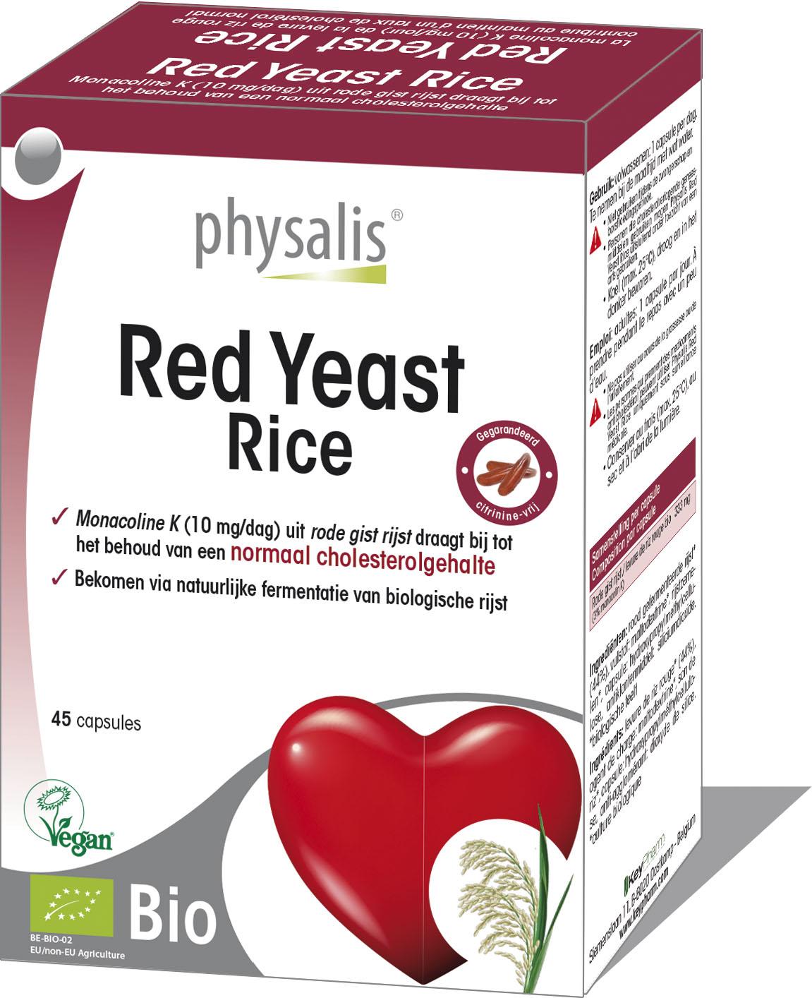 Bio Rode gist rijst