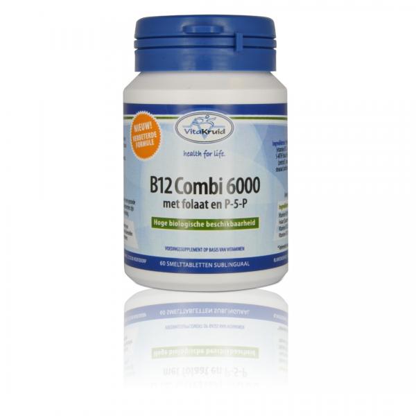 Vitakruid Vitamine B12 Combi 6000 met folaat en PSP