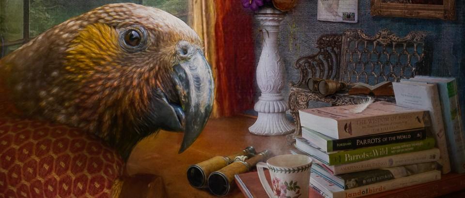 """Detail from """"The Bird Watcher"""""""
