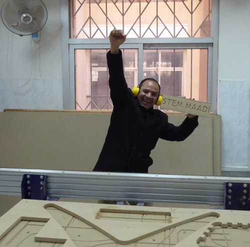 Dr, Adel Salah, Fab Lab Manager at Ma'adi GirlsSchool in Cairo.