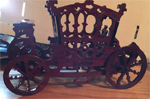 Antique carriage model cut from wood on a ShopBot.