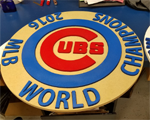 Cubs World Champions 2016 sign.