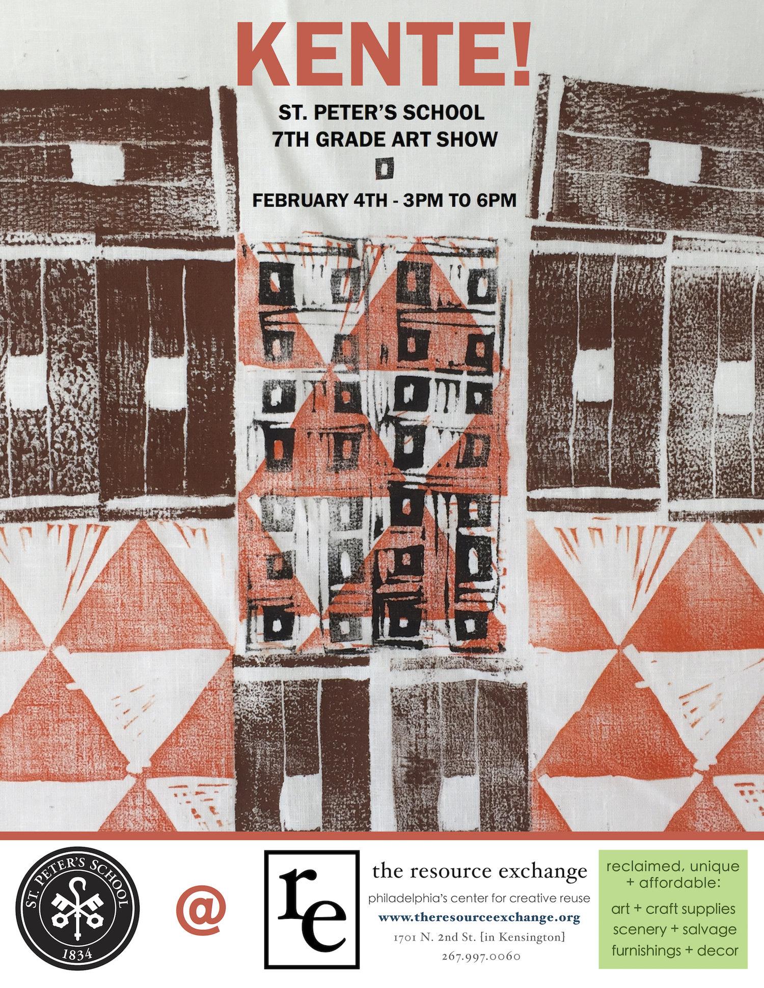 KENTE! Art Reception on Saturday, Feb 4th 3-6pm