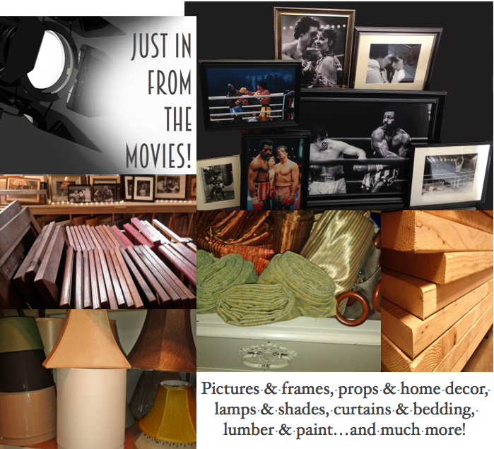 Just in from the movies…props, decor, lumber, & more!