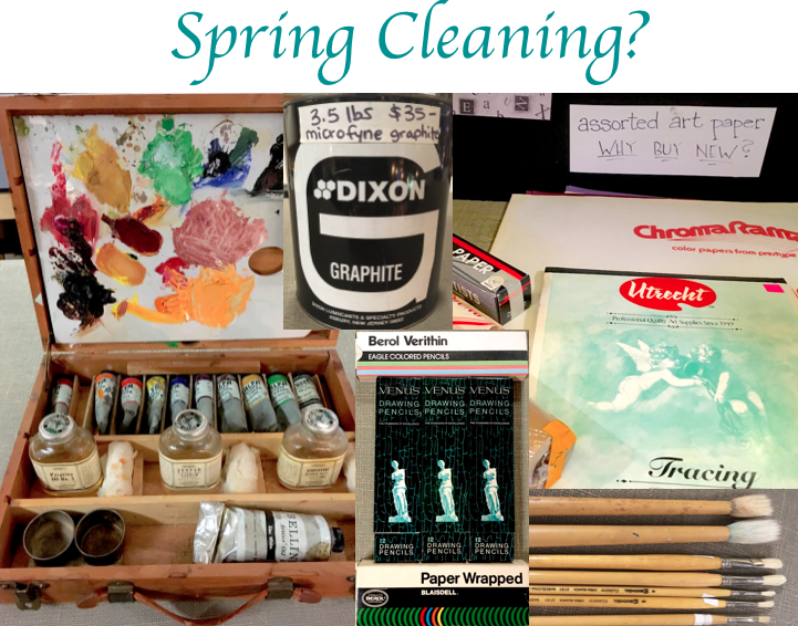 Spring Cleaning? Recently donated art supplies