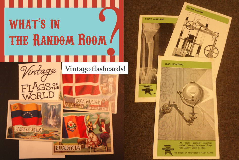 What's in the Random Room this month? Vintage flashcards!