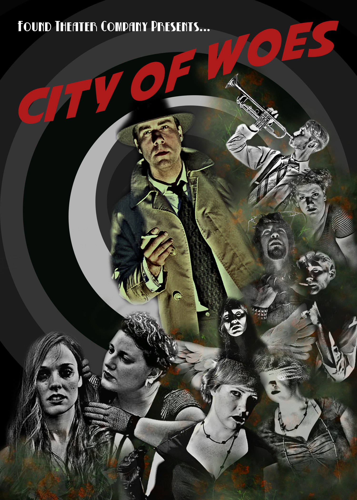 """poster for upcoming 2015 Fringe production """"City of Woes"""""""