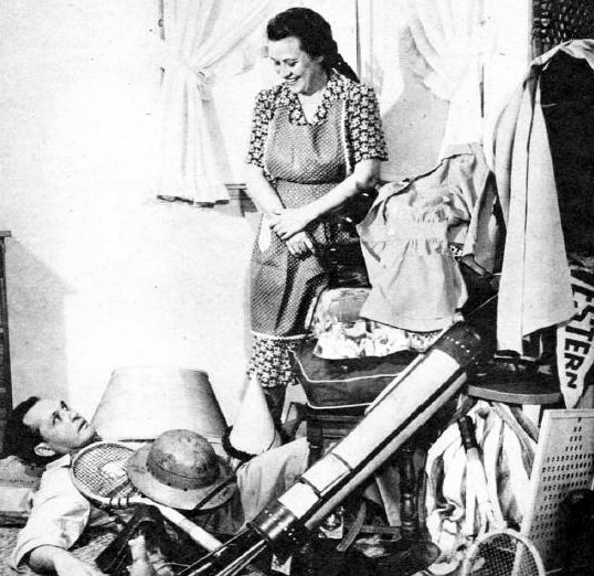 Fibber McGee and Molly Cleaning closet photo