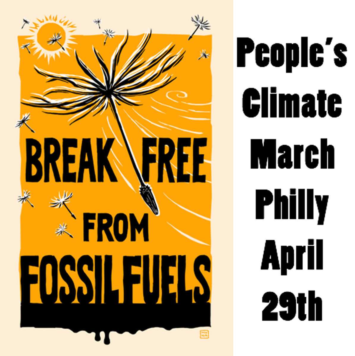 Philly People's Climate March, April 29th