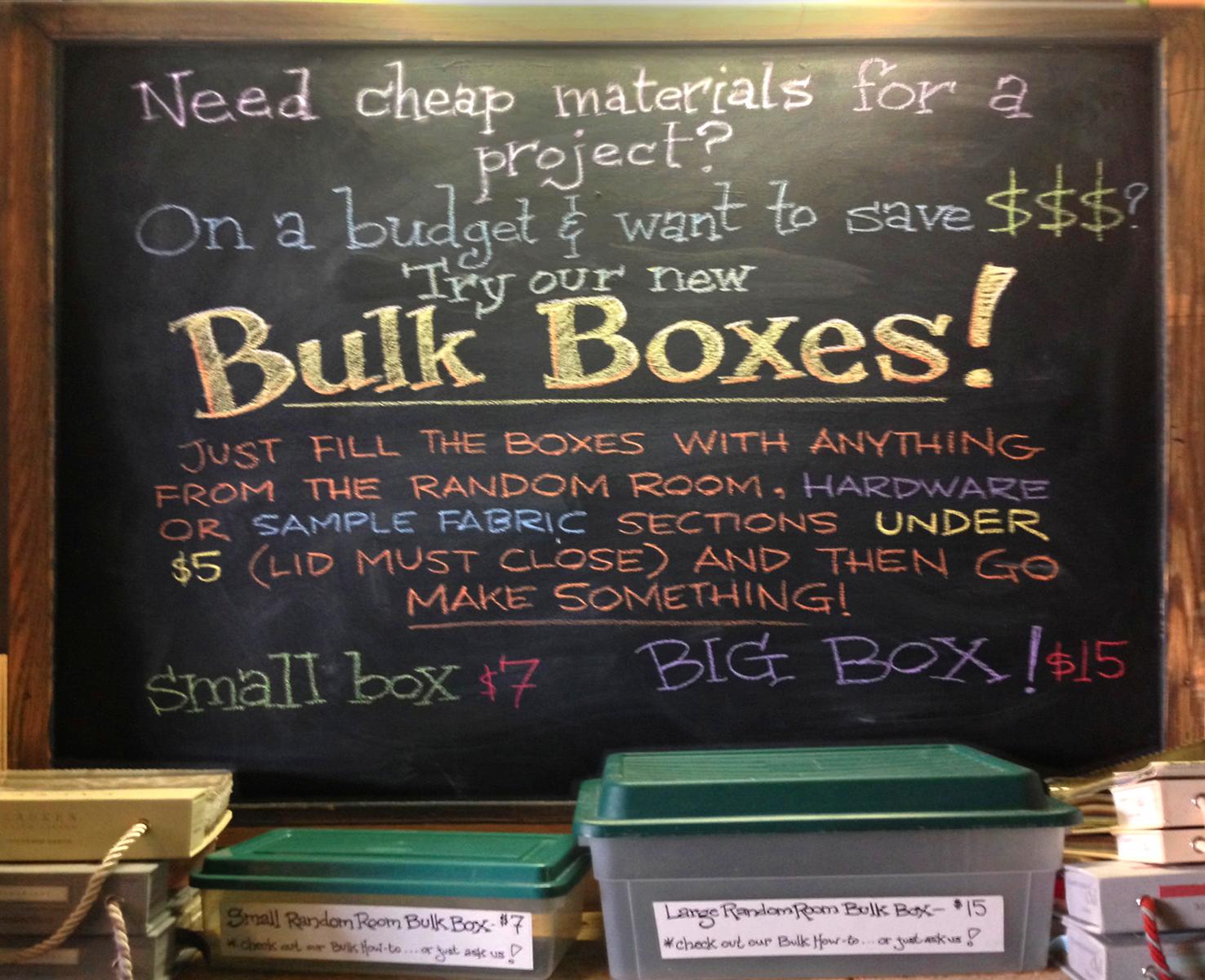 New Bulk Bargain Boxes available in the Random Room!
