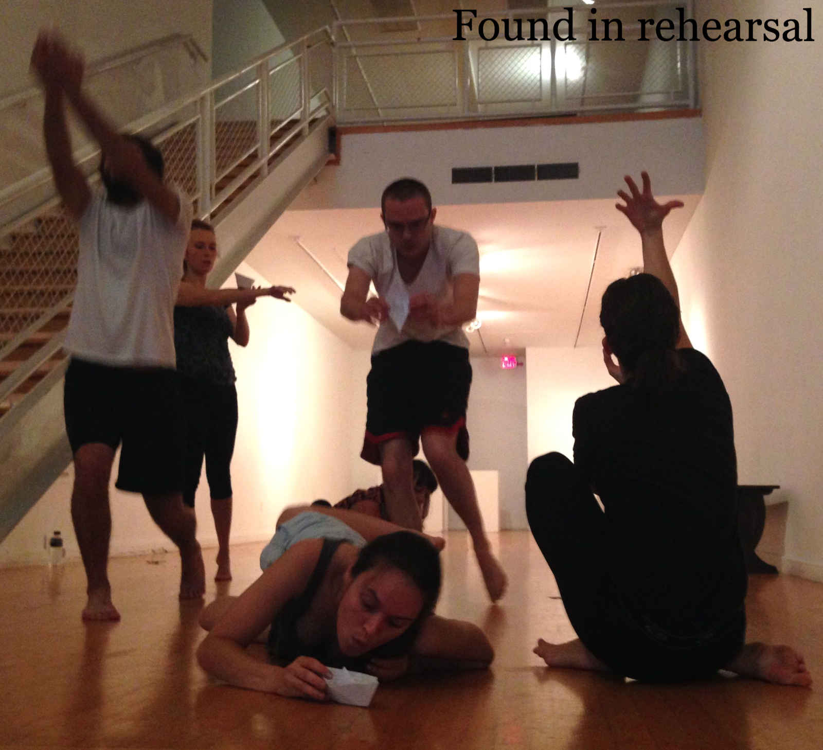 Found Theater Company in rehearsal