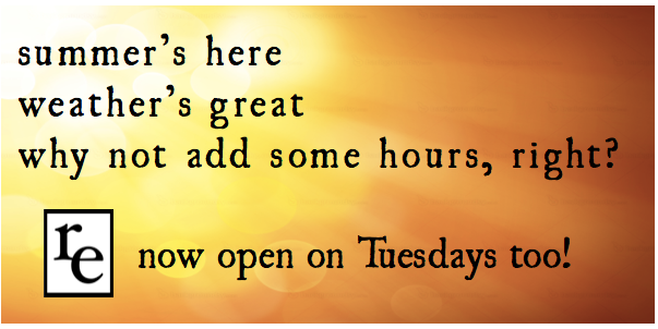 Extended Summer Hours: Now Open Tuesdays!