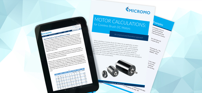 MICROMO dc motor calculations updated white paper pdf