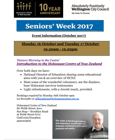 4c248f06 e45a 47f0 96af 76b619793ac7 - Holocaust Centre of NZ Newsletter 4 - Oct 2017