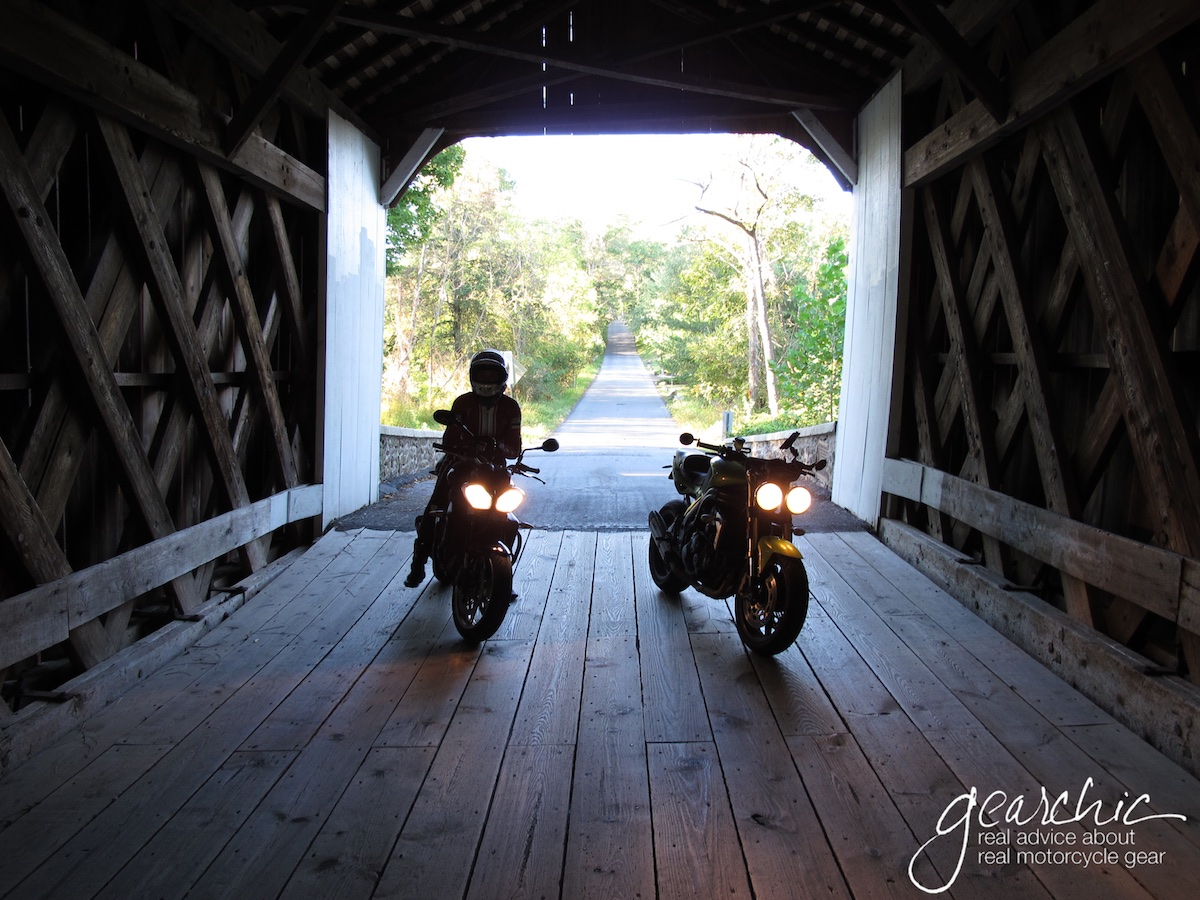 covered bridge shot