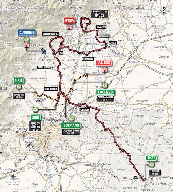 Campionati Italiani Ciclismo su Strada 2017: presentazione, percorso e programma