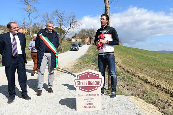 Cancellara's name forever part of the Strade Bianche