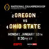 2015 National Championship banner - Oregon vs Ohio State