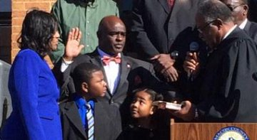Andre Brunson sworn in as Sheriff